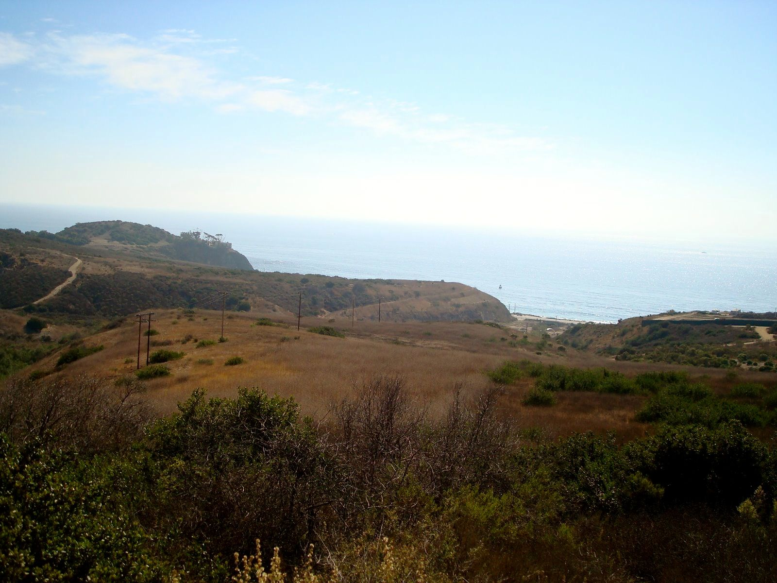 After you climb the first hill, you are rewarded with a view of the ocean!